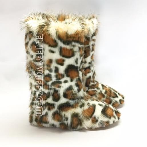 e8bd04829c3 Gold Cheetah Print - Fluffy Wuffies Classic Tall Boots - Northstar ...