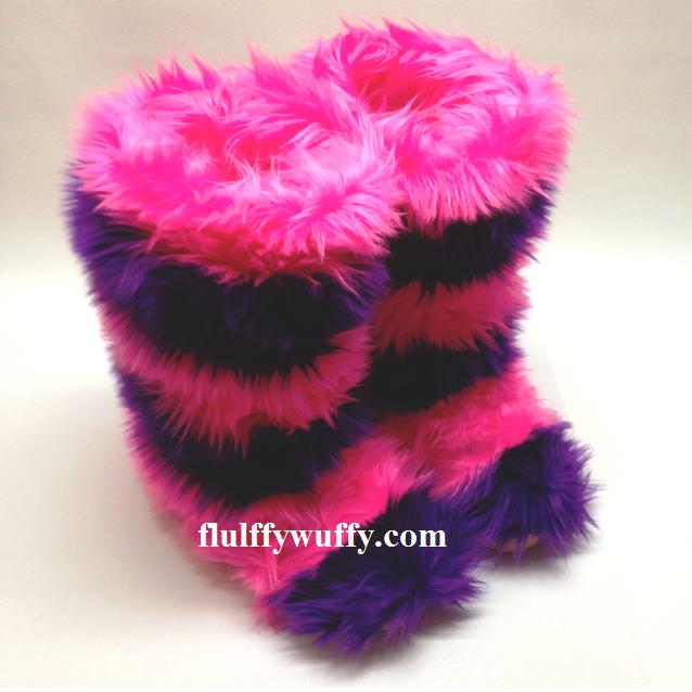 Stripe Hot Pink Amp Purple Faux Fur Boots Northstar Fur